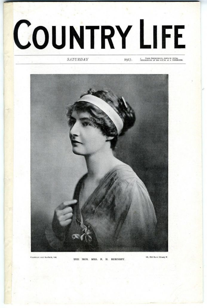 1917 COUNTRY LIFE Magazine MURIEL STRUTT HORNSBY Dartmoor Reclamation WW1 (8401)